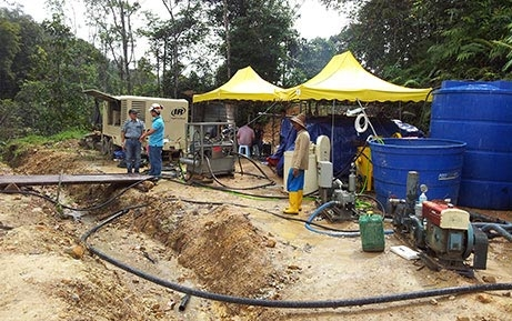 Shotcrete machine application in Malaysia