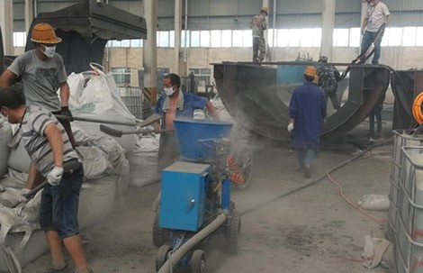 Gunite machine for refractory in Vietnam