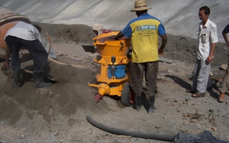Application of wet shotcrete machine in the philippines