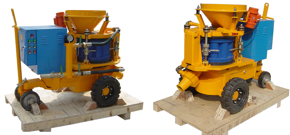 shotcrete machine with electric motor