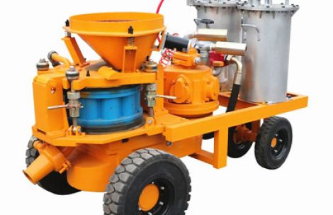 Application of concrete shotcrete machine in various industries